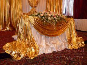 Украшение на свадьбу в ярком тоне красиво