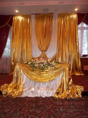 Оформление на свадьбу в ярком тоне оригинально