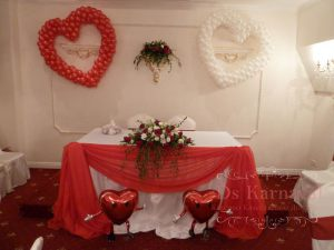 Оформление свадьбы в ярком тоне недорого в Москве