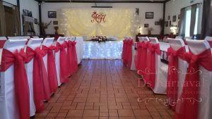 Декор свадьбы в ярком тоне дешево