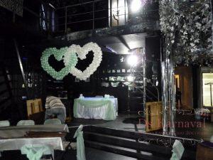 Декор на свадьбу в зеленом цвете фото