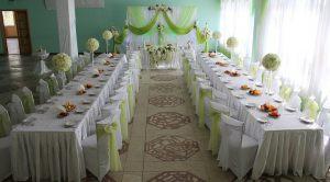 Оформление свадьбы в зеленом цвете недорого