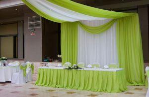 Декор свадеб в зеленом цвете красиво