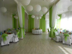 Оформление на свадьбу в зеленом цвете недорого
