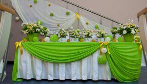 Оформление свадьбы в зеленом цвете цены