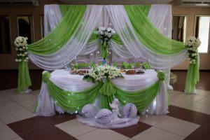 Украшение свадьбы в зеленом цвете недорого цены