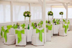 Оформление на свадьбу в зеленом цвете красиво