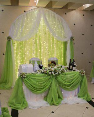 Украшение свадеб в зеленом цвете фото