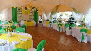 Декор свадьбы в желтом цвете дешево