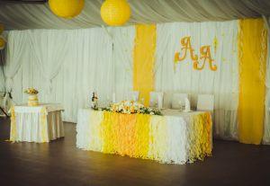 Декор свадеб в желтом цвете оригинально