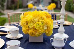 Декор на свадьбу в желтом цвете недорого цены