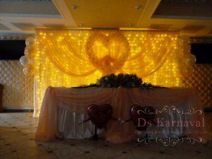 Декор на свадьбу в желтом цвете оригинально