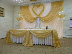 Декор на свадьбу в желтом цвете фото