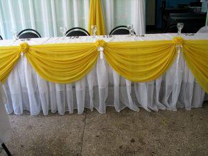 Украшение свадеб в желтом цвете недорого цены