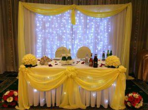 Декор свадьбы в желтом цвете цены