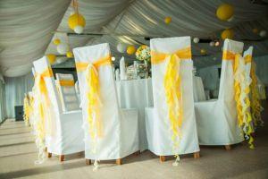 Украшение на свадьбу в желтом цвете недорого в Москве