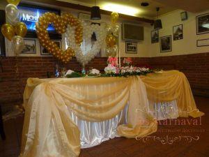 Украшение на свадьбу в золотом цвете дешево