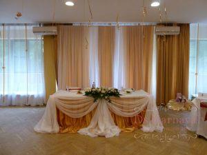 Оформление свадеб в золотом цвете дешево