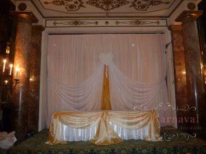 Декор свадьбы в золотом цвете фото и цены