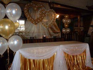 Оформление свадьбы в золотом цвете красиво