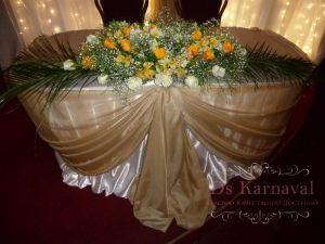 Украшение на свадьбу в золотом цвете недорого