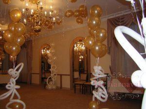 Декор свадеб в золотом цвете в Москве