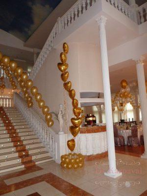 Декор свадеб в золотом цвете дешево