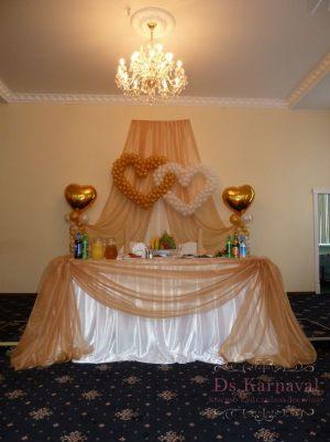 Оформление на свадьбу в золотом цвете недорого