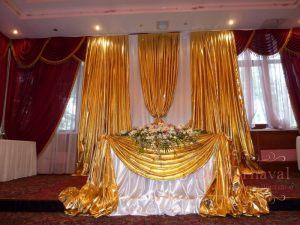 Оформление свадеб в золотом цвете недорого в Москве