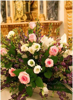 Оформление свадеб композицией цветов на столы цены