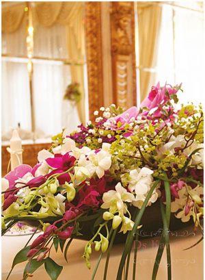 Украшение свадеб композицией цветов на столы в Москве