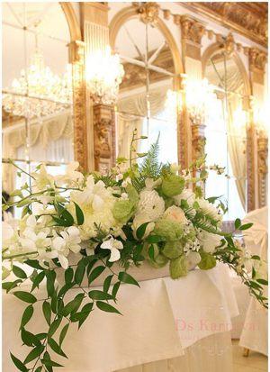 Декор на свадьбу композицией цветов в вазах цены