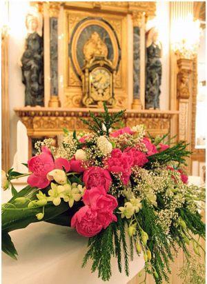 Украшение свадьбы композицией цветов в вазах цены