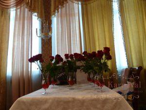 Оформление свадеб композицией цветов в бокалах цены