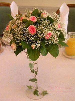 Оформление свадьбы композицией цветов в бокалах фото и цены