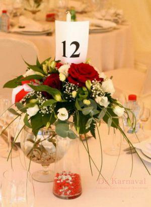 Декор свадеб композицией цветов в бокалах недорого в Москве