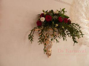 Оформление свадьбы композицией цветов на стенах фото и цены