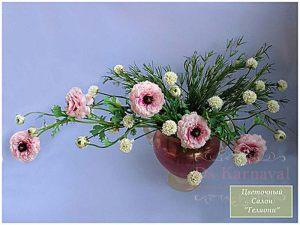 Декор свадьбы композицией цветов на стенах дешево