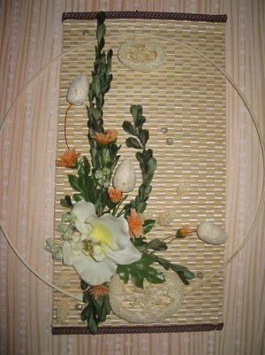 Декор на свадьбу композицией цветов на стенах дешево