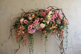 Декор на свадьбу композицией цветов на стенах недорого цены