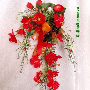 Украшение свадеб композицией цветов на стенах цены