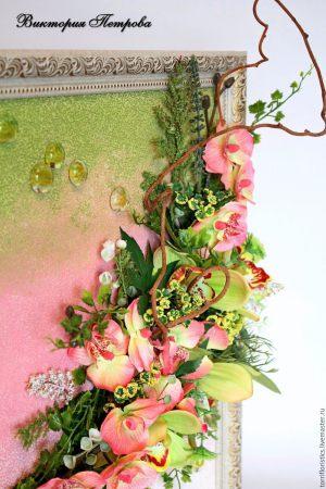 Оформление на свадьбу композицией цветов на стенах цены