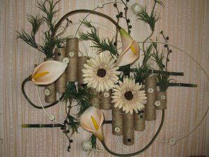 Украшение свадеб композицией цветов на стенах недорого в Москве
