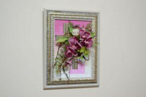 Оформление свадьбы композицией цветов на стенах красиво