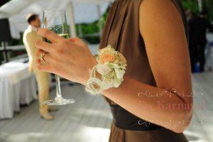 браслеты с цветами для свадьбы дешево