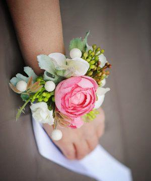 браслеты с цветами на свадьбу дешево