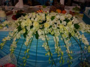 Оформление свадеб комбинированной композицией из цветов недорого в Москве