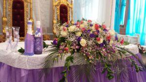Оформление свадеб комбинированной композицией из цветов фото