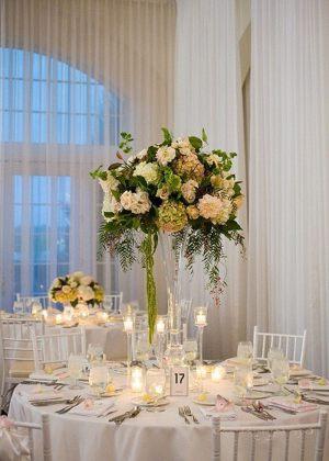 Оформление свадеб комбинированной композицией из цветов цены