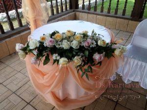 Украшение свадеб комбинированной композицией из цветов недорого цены